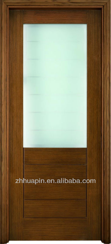 Fancy Fashion Half Glass Interior Wood Doors Buy Half Glass