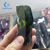 factory price dark peridot color raw uncut making for gemstone cutting