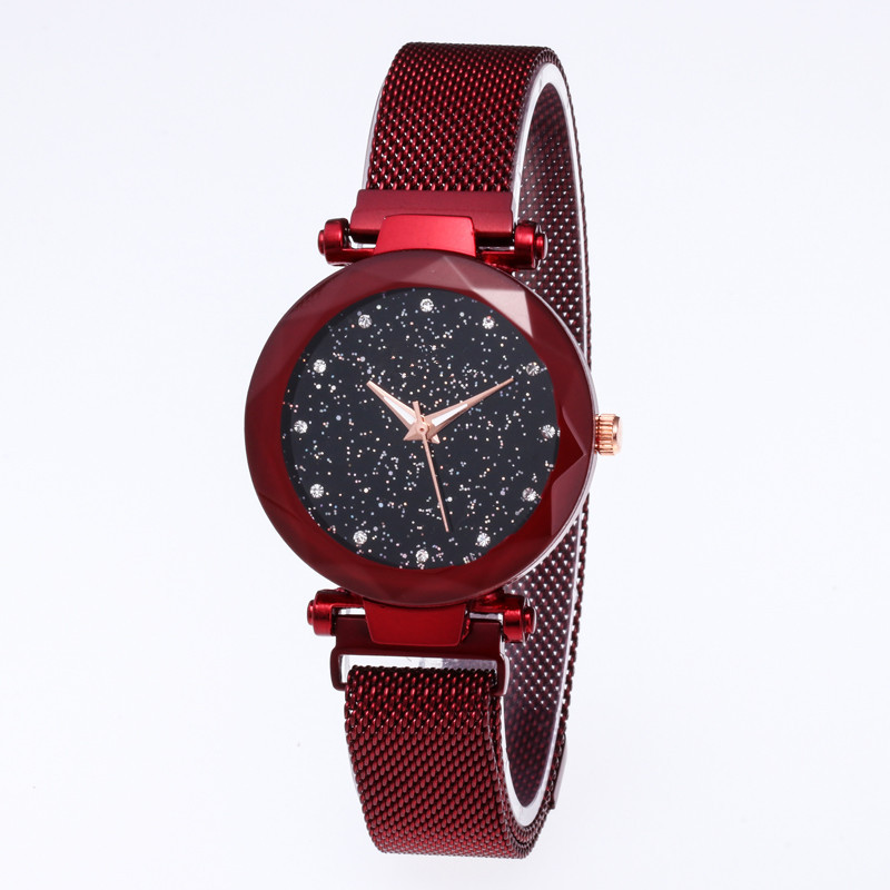 Hot Selling Star Space Watch Lazy Magnet Buckle Watch