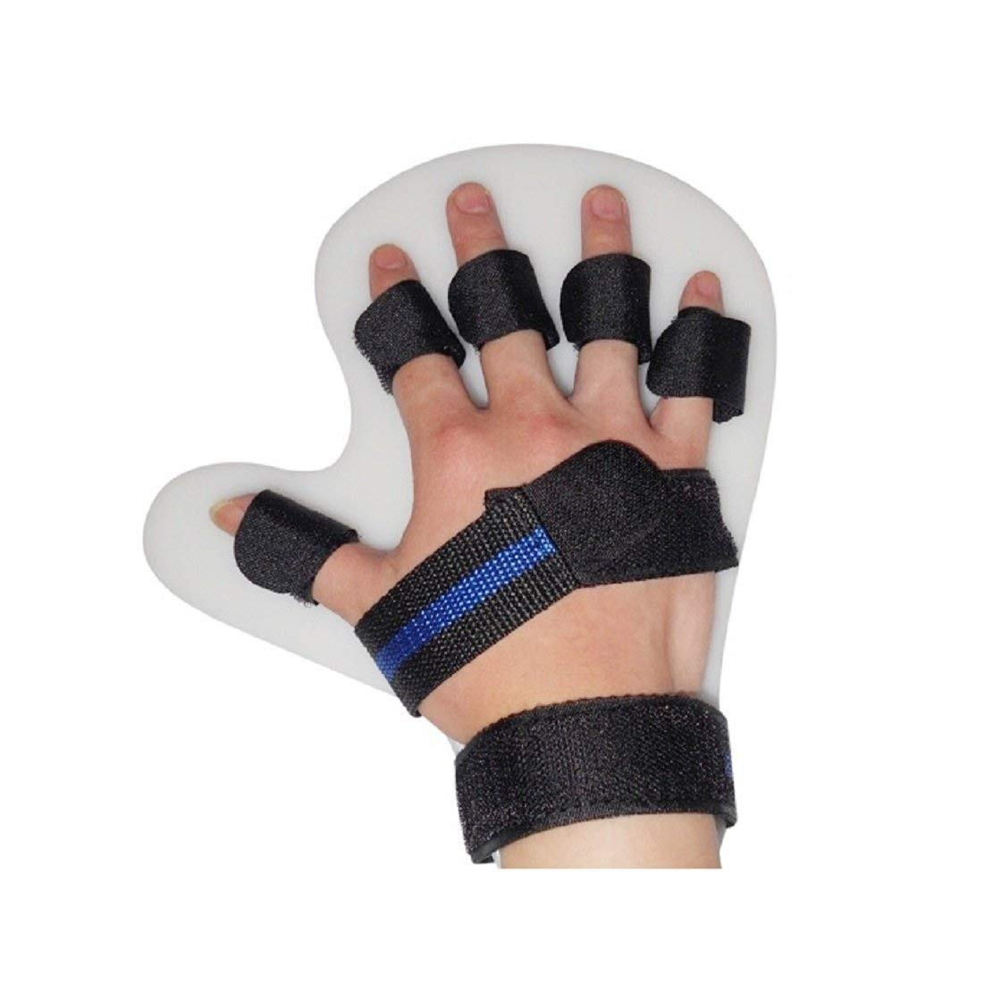 Jinon Finger Training Device,Finger Orthotics Fingerboard Stroke Hemiplegia Finger Orthotics Points for Stroke/hemiplegia/Traumatic Brain Injury (Black,Right Hand)
