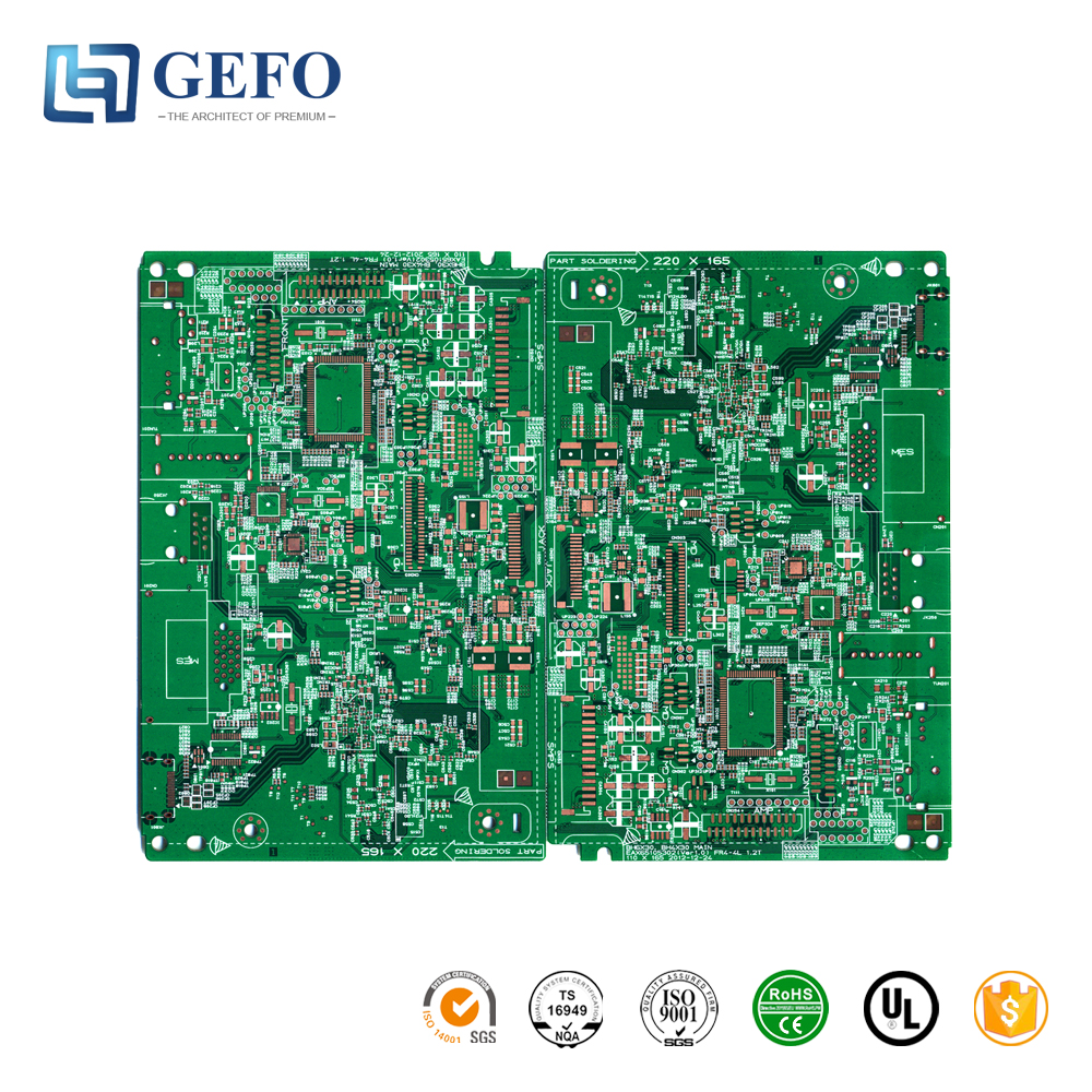 Double Layer FR1 FR4 CEM3 Flow Meter PCB, HASL Lead Free 94V0 ROHS Flow Meter PCB Board