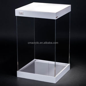 Customized Square LED light Clear Acrylic Display Box Case For Toy / Scale Model Car / Plane
