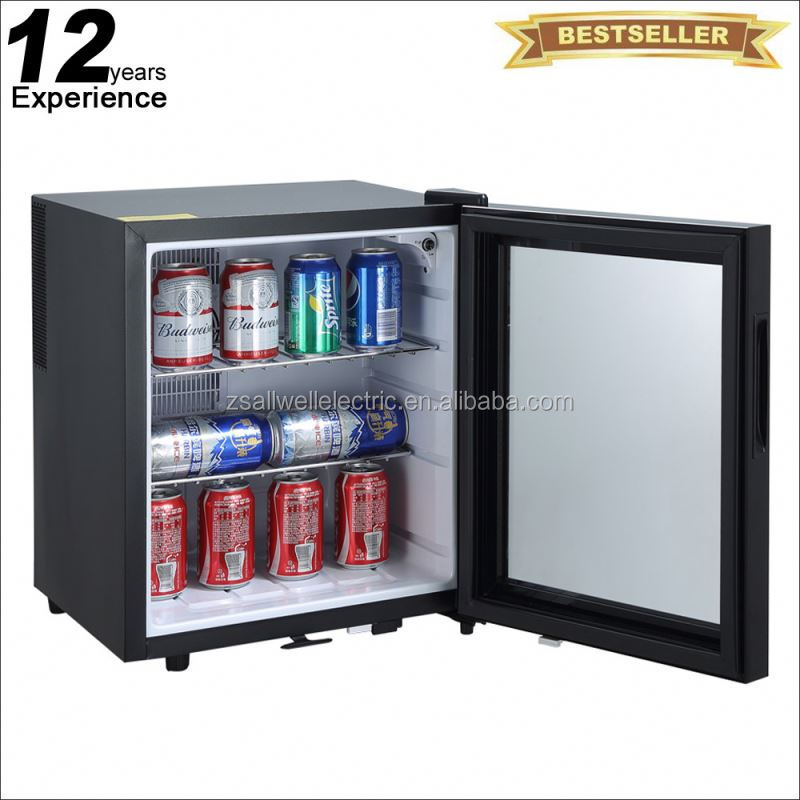 Save 5% glass door 40l hotel mini bar for guest