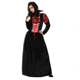Women Halloween Black Long Sleeve Party Vampire Dress Sexy Adult Cosplay Costume Q1057