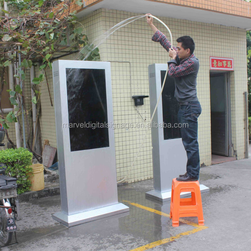 Water proof vandal proof outdoor lcd display for advertising