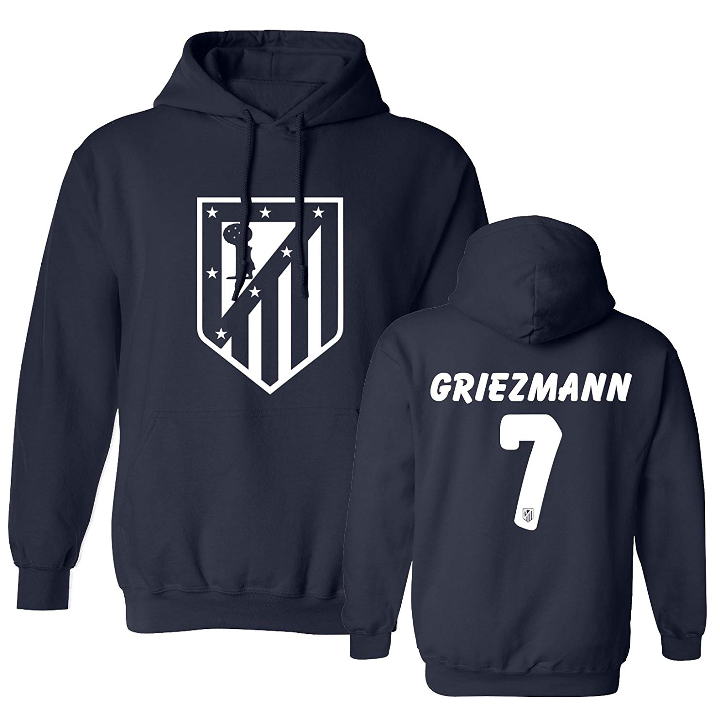 b9f3170e5f6 Get Quotations · Tcamp Atletico Madid Shirt Antoine Griezmann  7 Jersey  Men s Hooded Sweatshirt