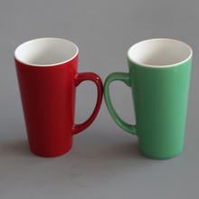 Big tall v shaped ceramic drink mugs