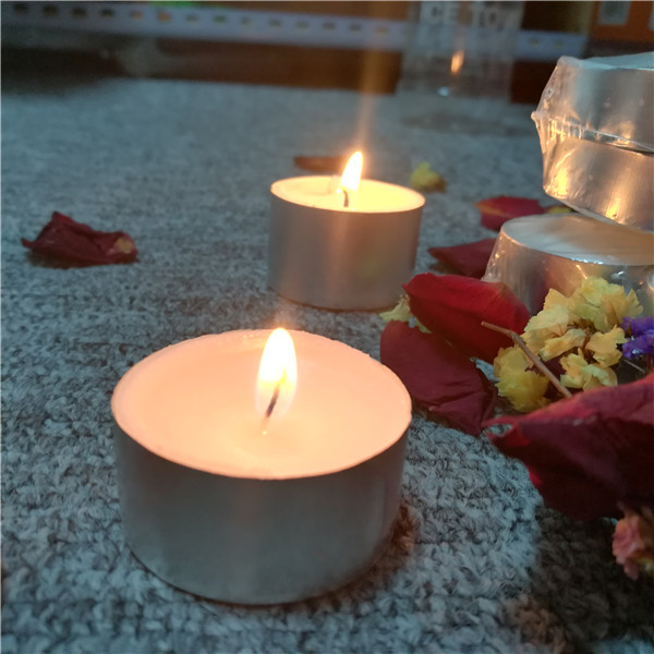 Mini 8 hour 23g europe high quality no scent tealight candles