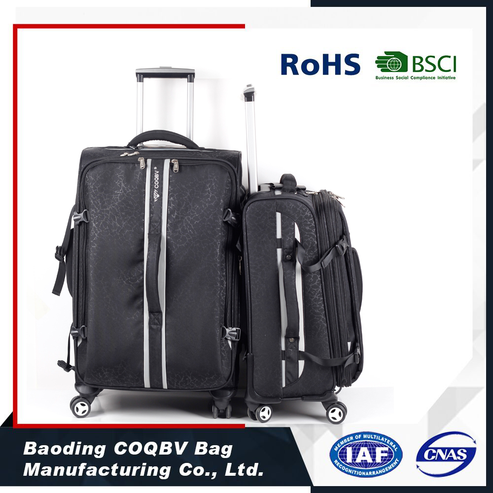 trolley bag with detachable backpack luggage sets aluminium