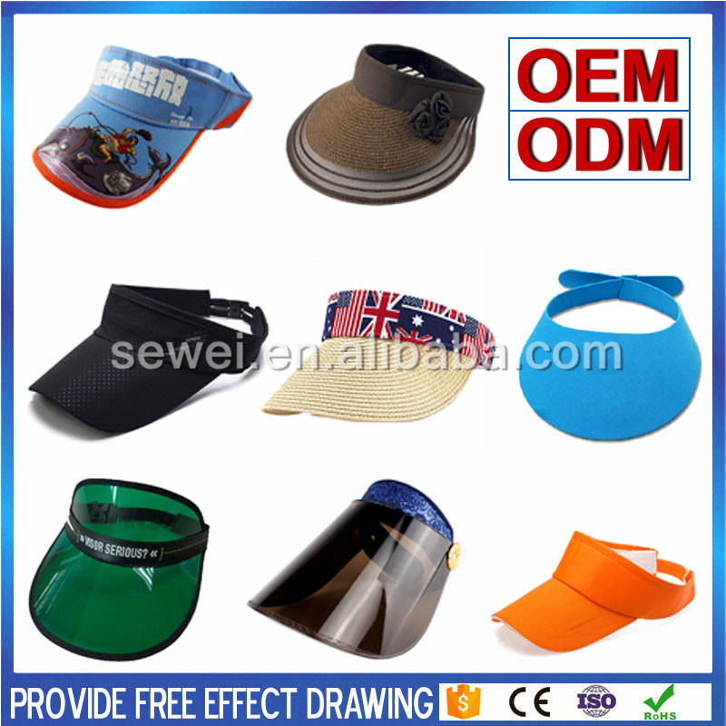 High quality custom Professional Manufacture Proof Sun Visor Cap Empty Top Hat for factory hot sales