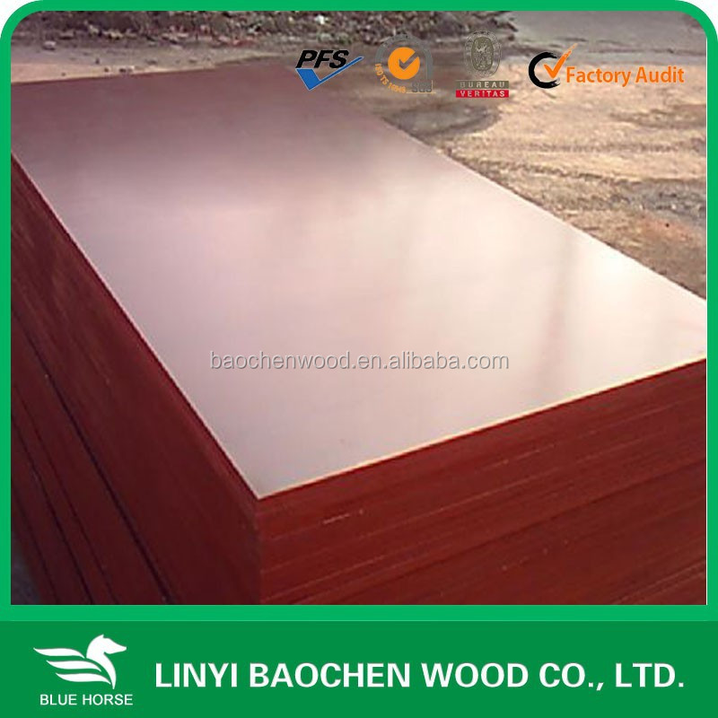Red film 18mm cheapest price construction market quality Building film ply /marine plywood/concrete formwork