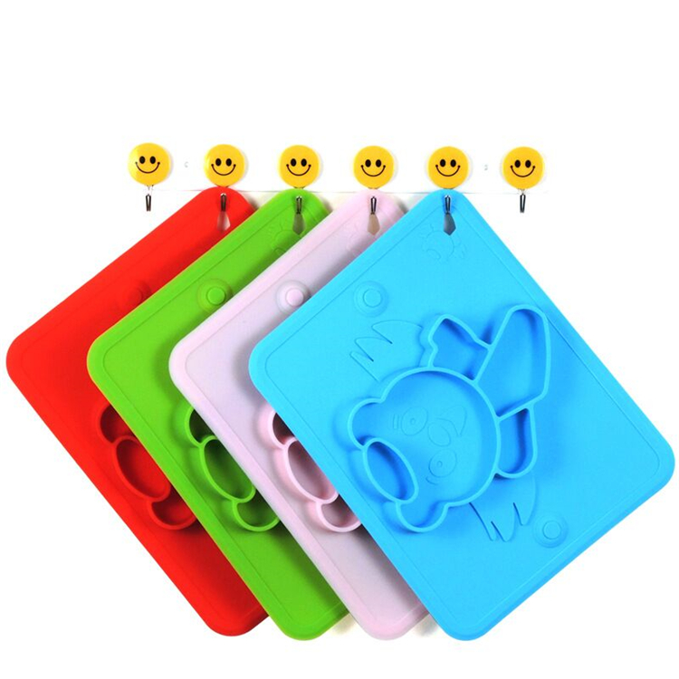 One-Piece non-slip Silicone Child Bowl design kids food place mat