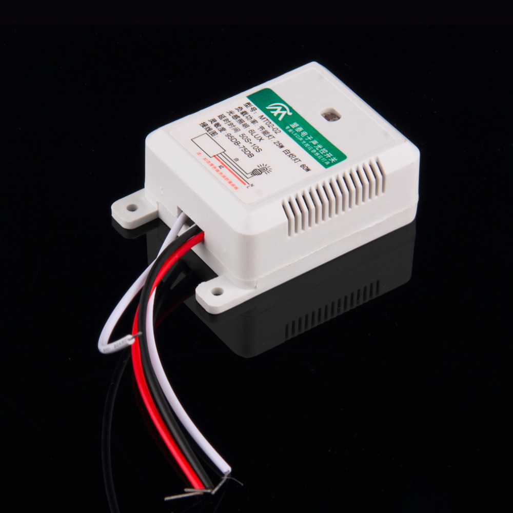 1pcs Hot Worldwide MT02-02 95DB-75DB Intelligent Auto On Off Light Sound Voice Sensor Switch Time Delay AC 160-250V Hot Search