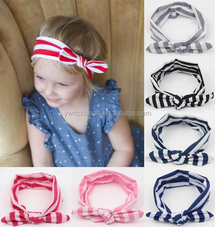 Cute Baby Toddler Kids Girls Bow Hairband Turban Knot Cotton Headband Headwear Q