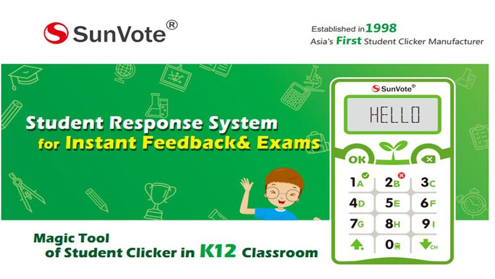 SunVote clickers for class suits in education