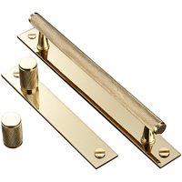 Brass Knurled Handle Solid Cupboard Cabinet brass pull handle and Knobs Black/Chrome/Gold C-0900