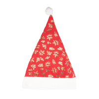Decoration supplies guangzhou wholesale market new design santa christmas hat