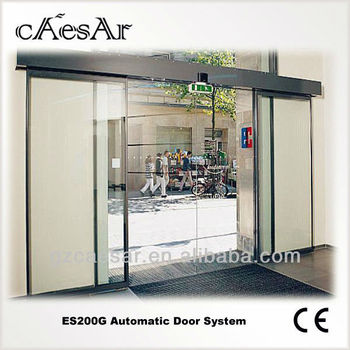 Es200g Automatic Tempered Glass Office Sliding Door Buy Tempered