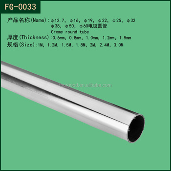 Shop Fitting And Decorating Chrome Plated Metal Upright Round Tube - Buy  Shop Fitting And Decorating,Metal Plating Upright Tube,Fitting And  Decorating