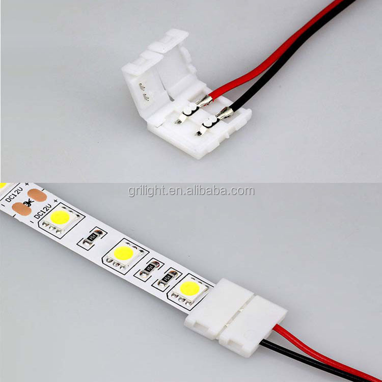 12 volt 8mm 10mm led strip connector clip 2 pin 3528 2835 5050 smd 12 volt 8mm 10mm led strip connector clip 2 pin 3528 2835 5050 smd strip led aloadofball Images