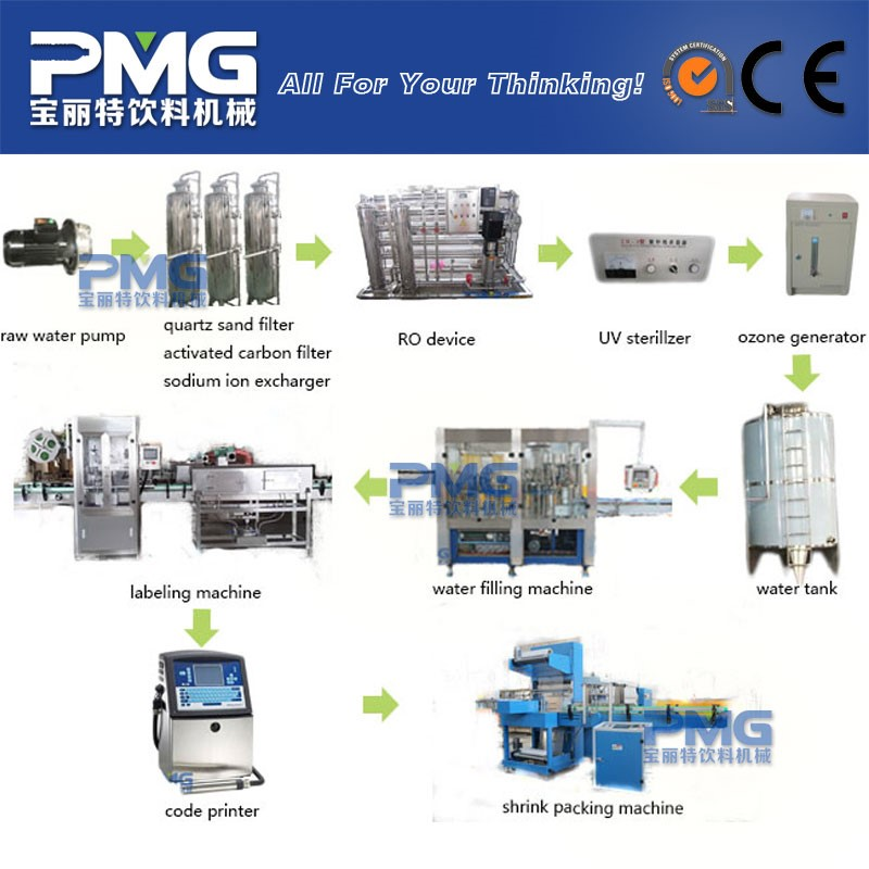 Small water treatment plant / production equipment / water purifier system