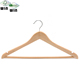 Inspection 50% off fancy clothes coat wooden suit hangers with logo