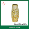 Indian popular decorative antique ceramic vases gold painted plated