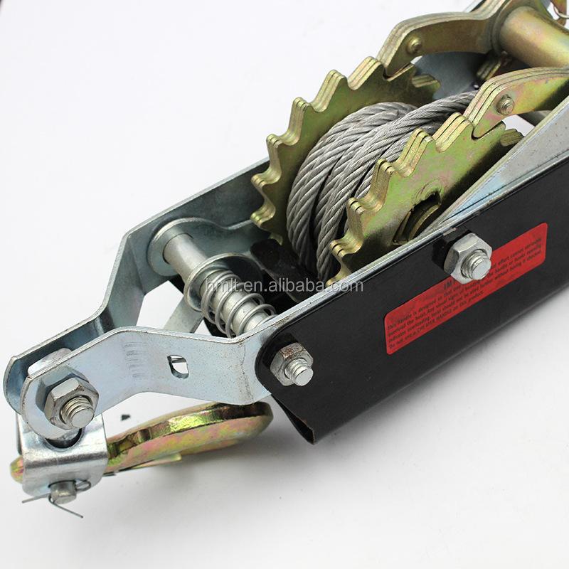 4 Ton 8000lb Come Along Hoist Ratchet Hand Cable Winch Puller Crane 2 Hook