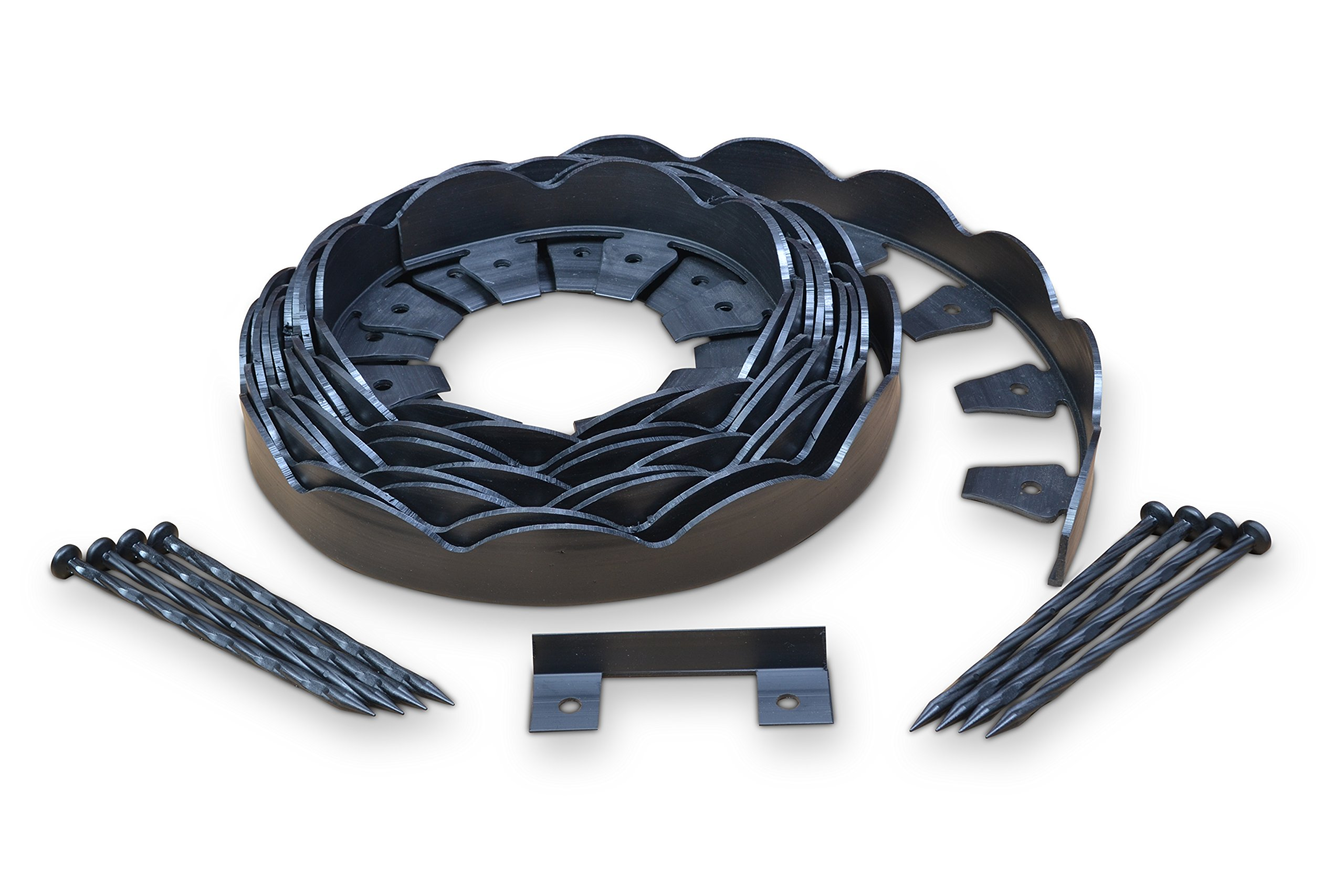 EasyFlex Dimex Scallop Top Plastic No-Dig Edging Project Kit, 100-Feet (3210-100C)
