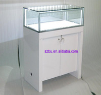high end wooden glass display cabinet/counter/showcase with led lights