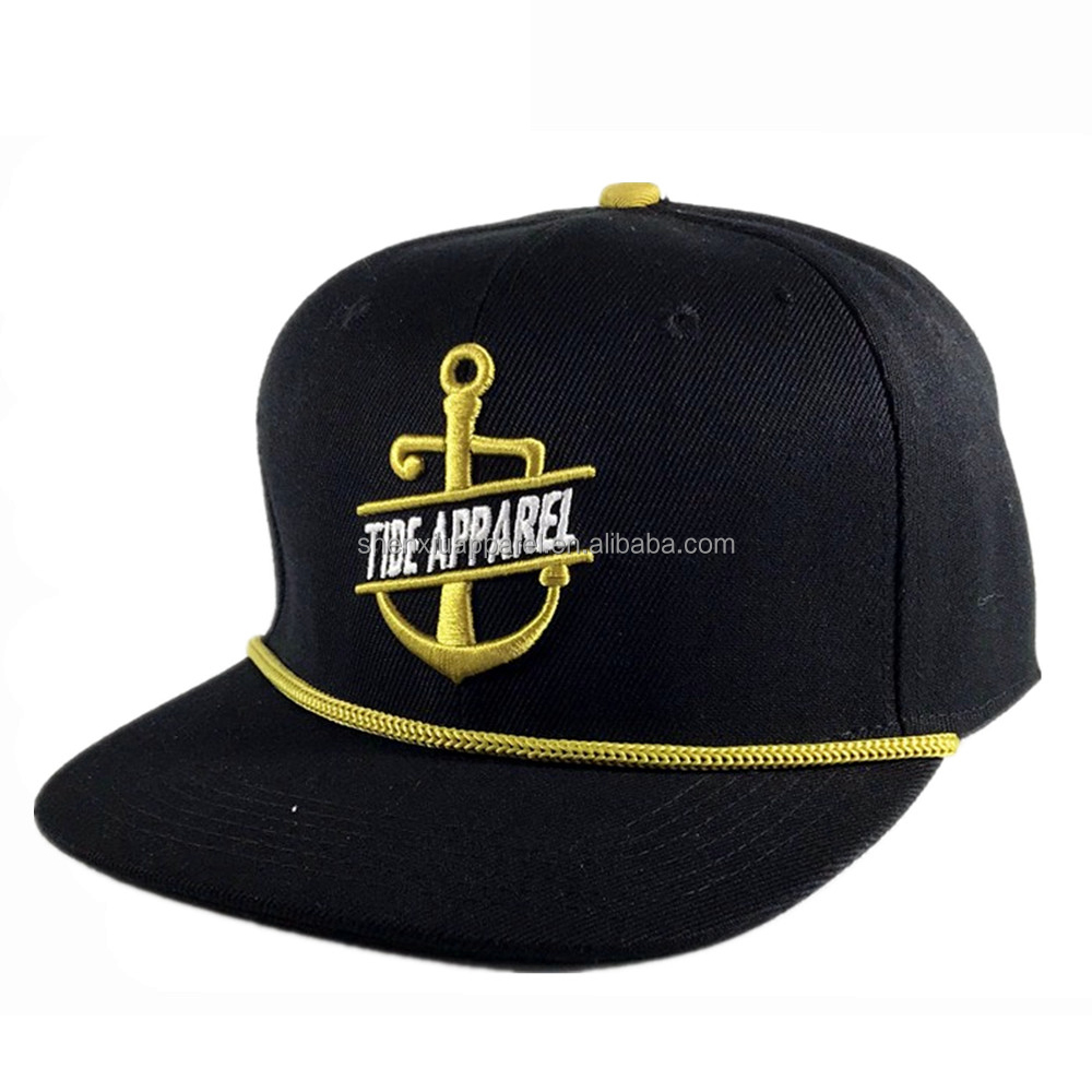 Cool custom adjustable sports hip-hop hats snapback rope cap hat with string c757608e5bc