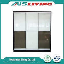 New model nice modern style sliding door modular bedroom wardrobe