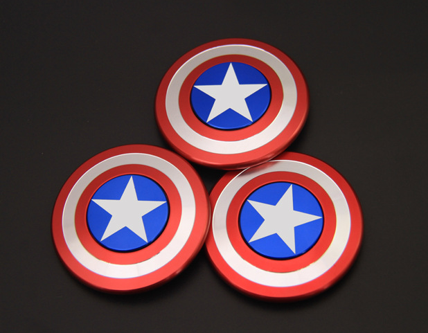 2017 Fidget Spinner Captain America Metal Finger Spiner Aluminium Hand Toys For Children Cube Stress Wheels