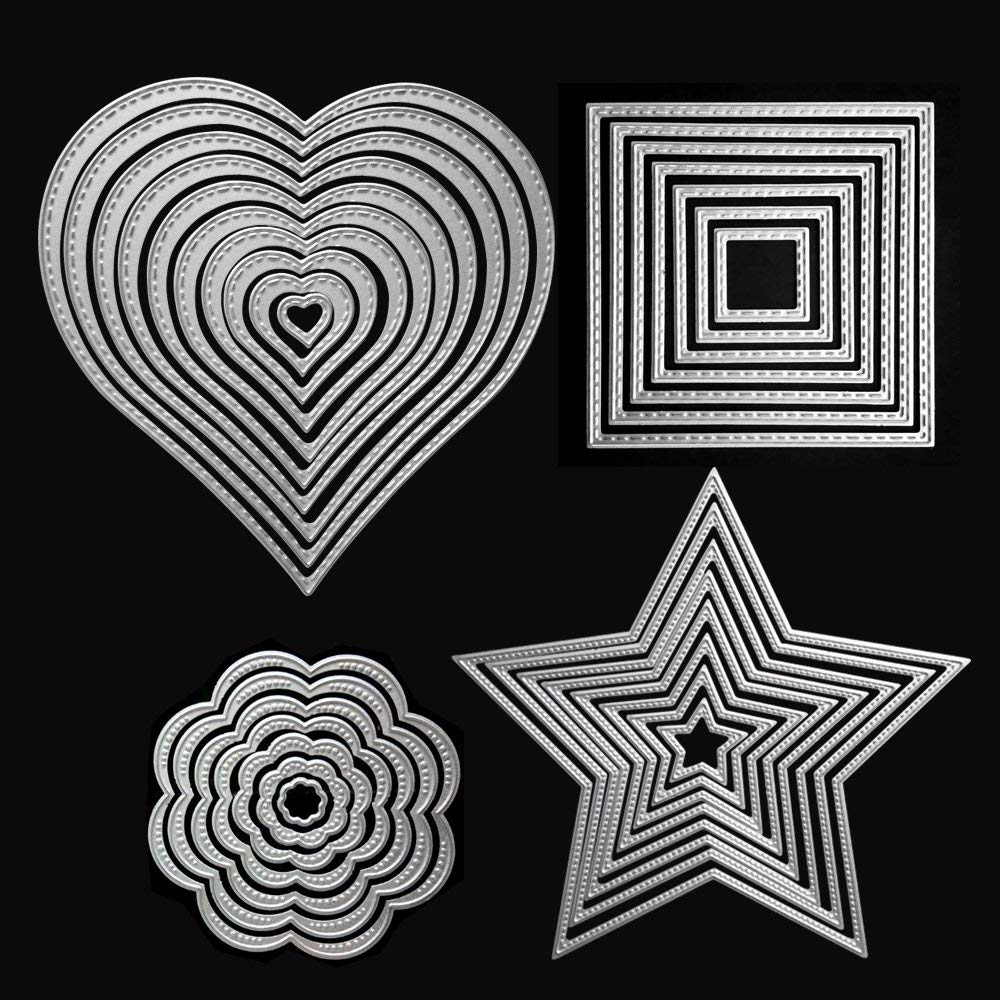 Metal Cutting Dies Five-Pointed Star for Card Making NOMSOCR Cut Die Metal Stencil Template Mould for DIY Scrapbook Embossing Album Paper Card Craft Birthday Festival Decoration Five-Pointed Star