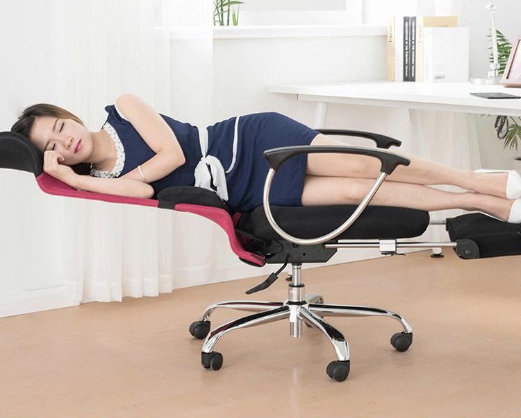 Silla de oficina con reposapi s reclinable silla dormir for Sillas de oficina comodas