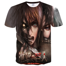 YWLL Shingeki no Kyojin 3D Stampato Anime T-<span class=keywords><strong>Shirt</strong></span> Adulto Cosplay Divertente Manica Corta <span class=keywords><strong>Tee</strong></span> Top Attacco su Titano T <span class=keywords><strong>shirt</strong></span>