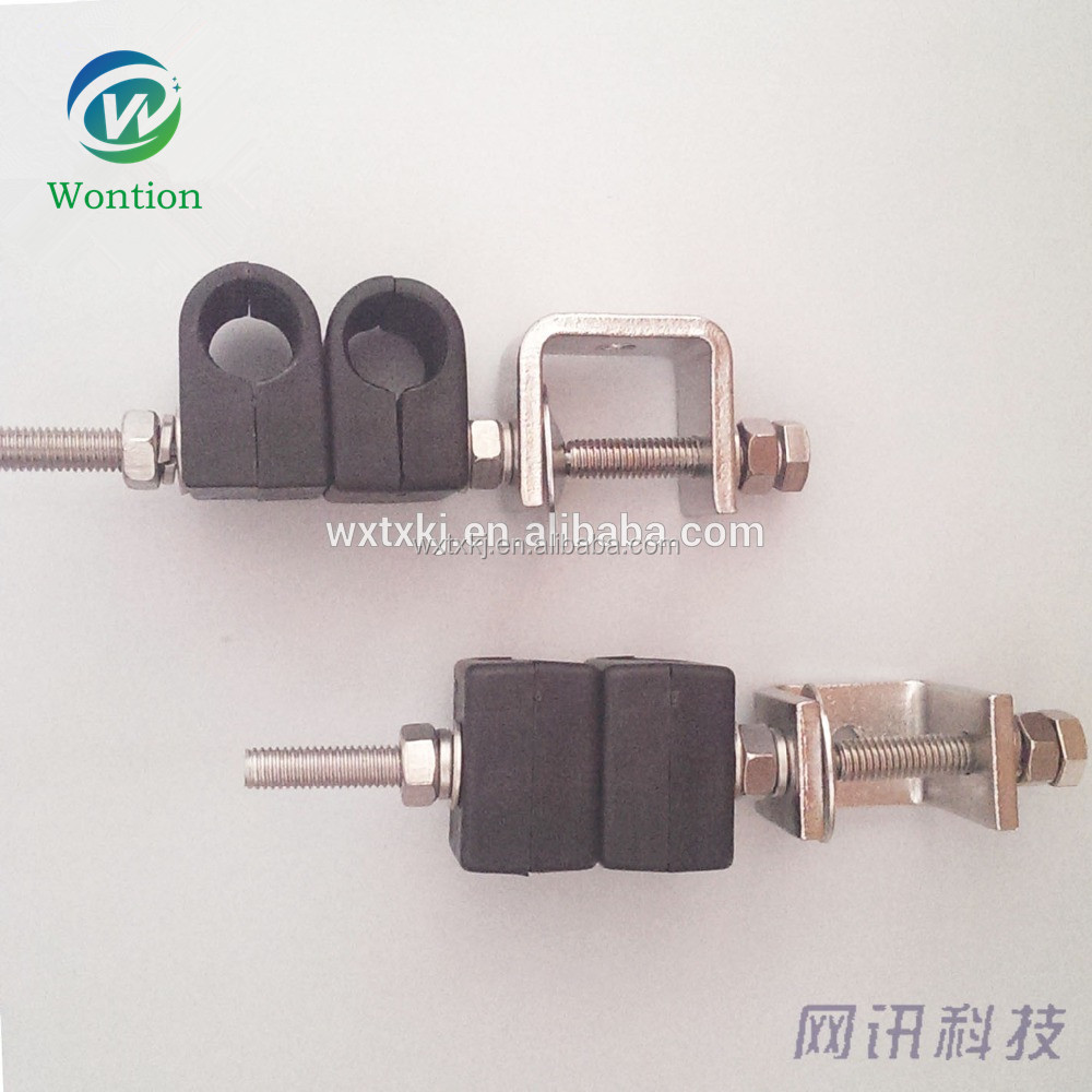Innovative single-joint two-way coaxial feeder cable clamp/stainless steel cable clamp