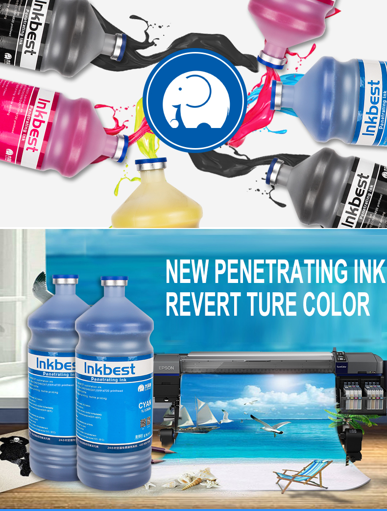 Wholesale Inkbest 4720 penetrating sublimation ink for china sublimation printer