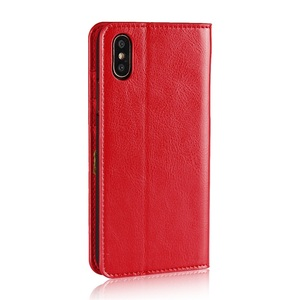 C902 Top Quality Genuine Leather Phone Case With Card Slot For iPhone X