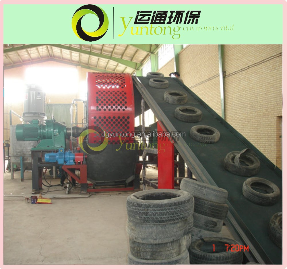 Discount hot sale automatic scrap old and waste tire recycling machine plant for tire crumb rubber
