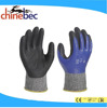 EN 388 4544 Anti cut resistant level 5 nitrile coated on palm safety gloves