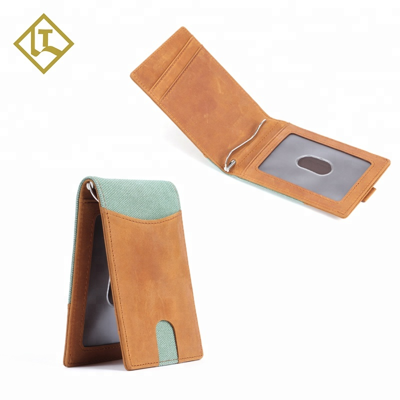 Best Selling RFID Wallet Money Clip Credit Card Holder Wallet Genuine leather Wallet for <strong>Men</strong>
