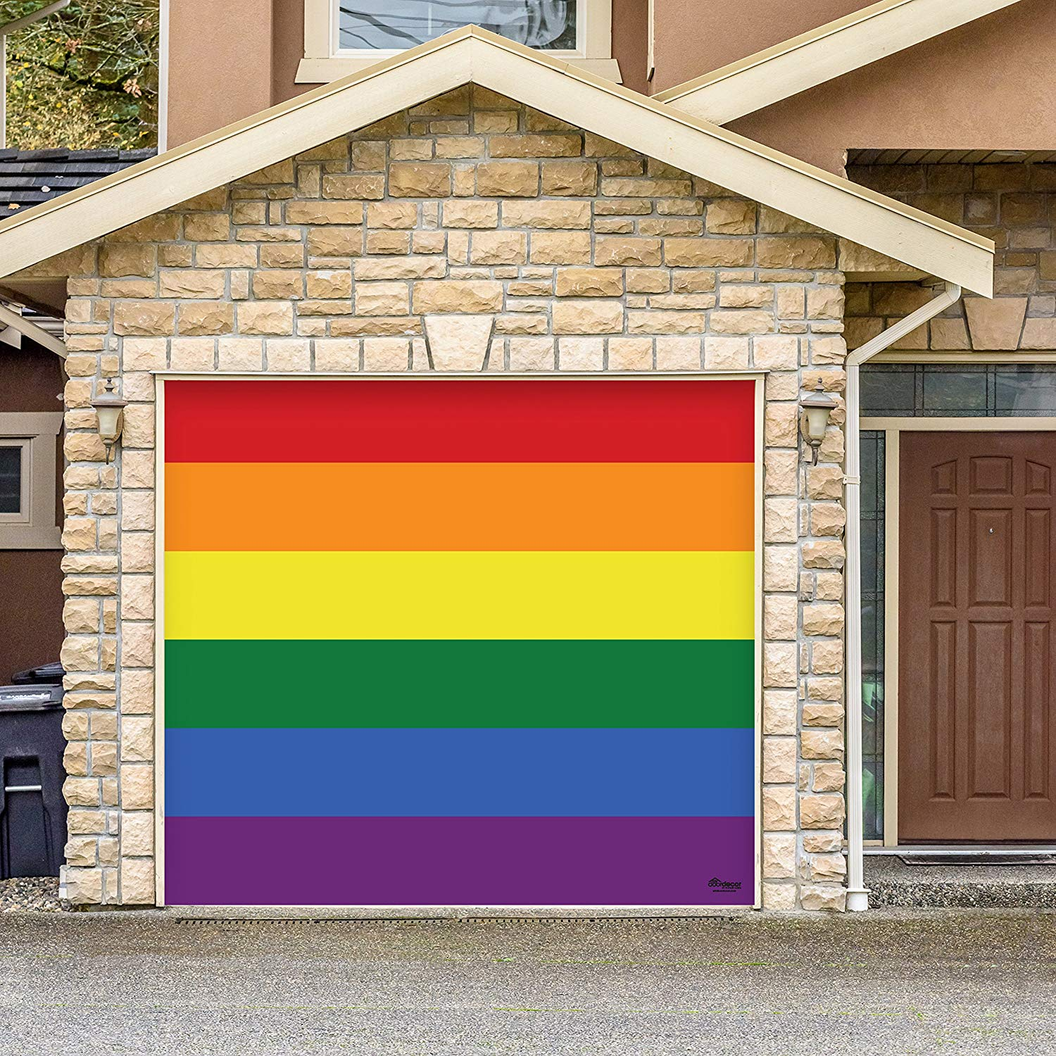 Victory Corps Original Pride - Outdoor PRIDE LGBT Garage Door Banner Mural Sign Décor 7'x 8' Car Garage -The Original Holiday Garage Door Banner Decor
