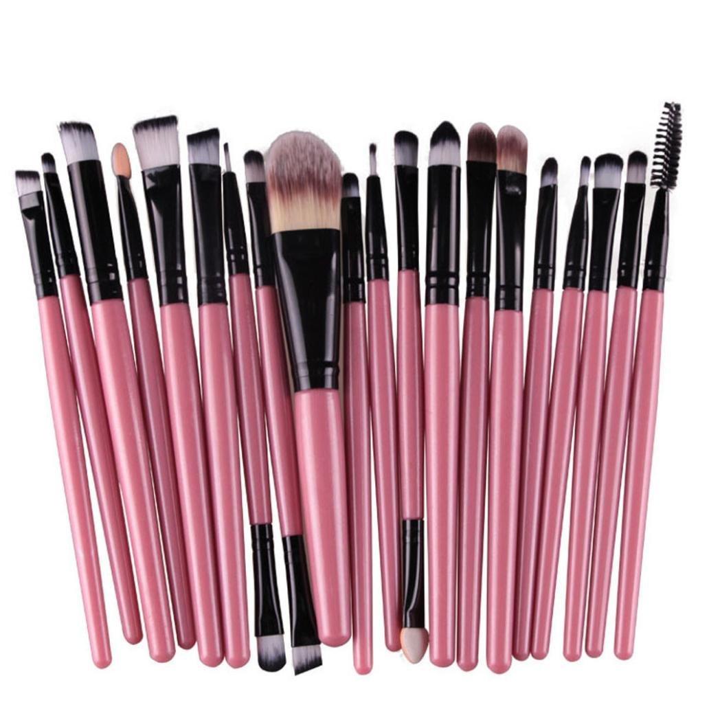 AMA(TM) 20 pcs/set Makeup Brush Set tools Make-up Toiletry Kit Wool Make Up Brush Set (Black )