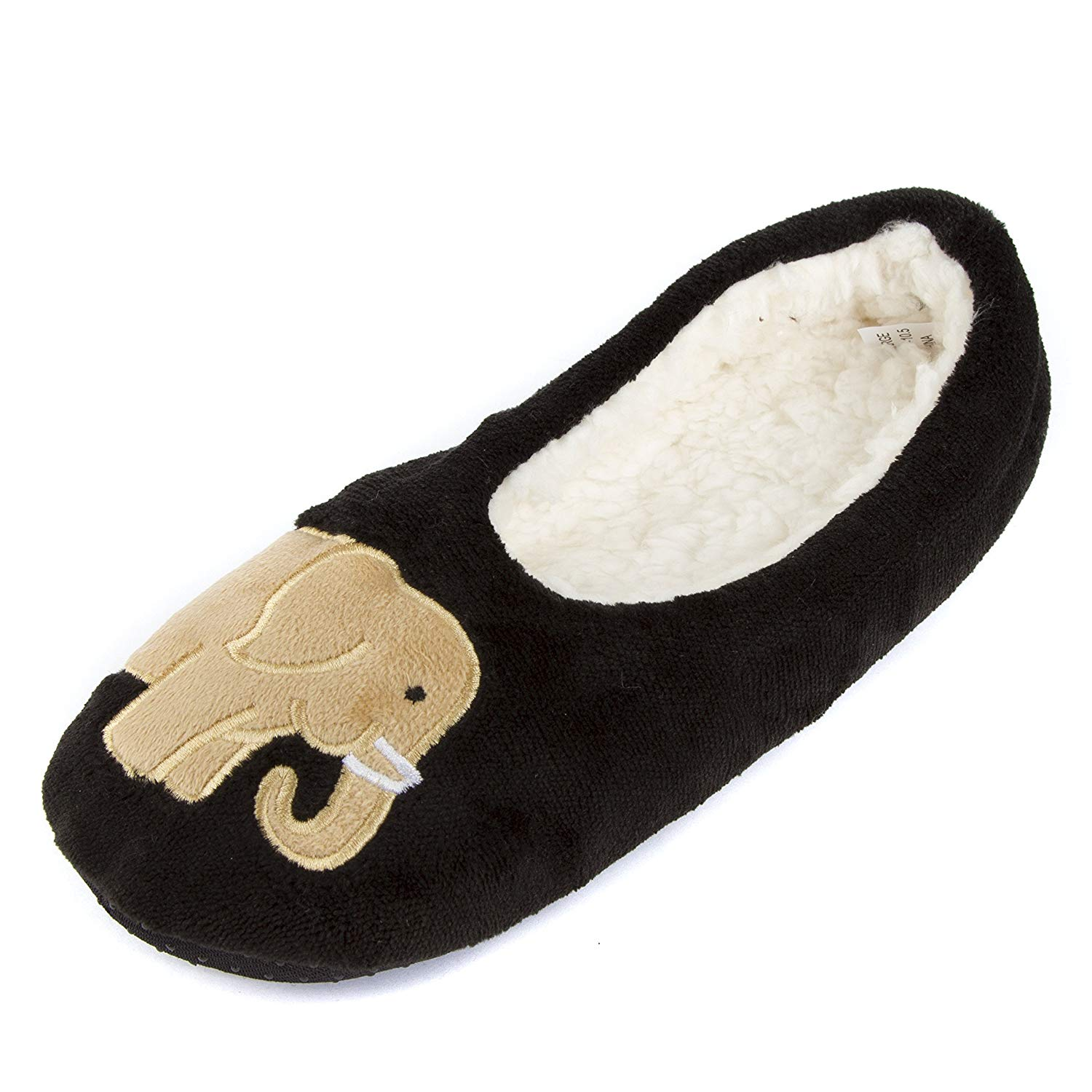 24bb22d511af Buy Leisureland Women  39 s Fleece Lined Cozy Slippers Embroidery Elephent  in Cheap Price on m.alibaba.com