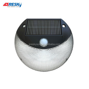 new patent wireless solar powered courtyard stair wall lights,pir motion sensing detector led outdoor security light 12v 8 led