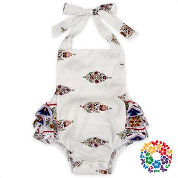 Custom Newborn Baby Girl Backless Romper Printing Design Adult Baby