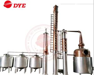 3000L DYE-IV-vodka white spirit distillation equipment with copper kettle
