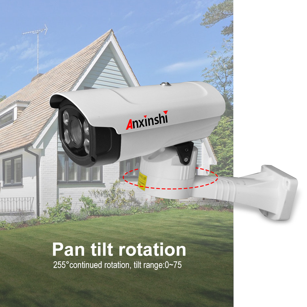 Anxinshi 4K Ultra HD 4 in 1 PTZ Security Camera 8MP sensor 4mm Fixed lens IR80m PTZ bullet Camera RS485 UTC PT Z Camera