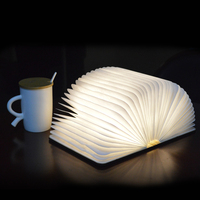 Colorful Light PU Portable Folding Book Lamp LED Night Light for Room